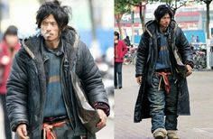 When you realize that this homeless Chinese has got way more style than you
