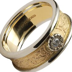 Caillech Diamond Set Celtic Ring-14K Gold... It's only $1,140 honey! (eeeeegads)