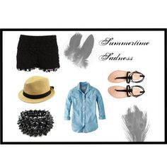 """Black Summer Day"" by teaandfashion on Polyvore"