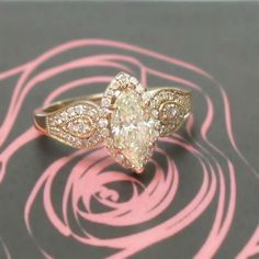 1.01ct Marquise Diamond Ring in Rose Gold