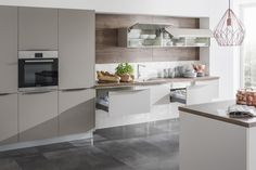 Kaschmir lakovaná supermat Grey Stone, Modern House Design, Indoor, Table, Furniture, Home Decor, Kitchens, Kitchen Ideas, Google Search