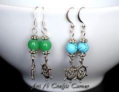 glass bead earring bead earringHandmade by ArtNCraftsCorner