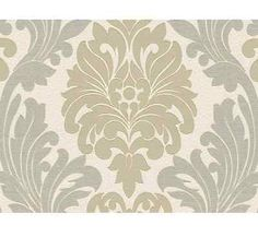 New Belgravia - Lazio Damask - Champagne & Gold Glitter Luxury Wallpaper - 1403