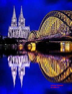 The Gothic Cathedral of Cologne, Germany at a distance.