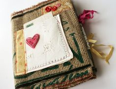 Coffee bag journal--pink heart | Flickr - Photo Sharing!
