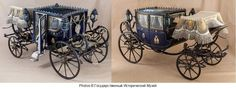 Miniature carriage built for the children of Tsar Alexander II of Russia. Restored and on display at the State Historical Museum in Moscow,Russia. Russia News, Imperial Russia, Horse Drawn, Moscow Russia, Central Asia, Children, Metal, Display, Saddles