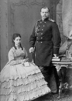 Grand Duchess Maria Feodorovna, Tsesarevna of Russia and Grand Duke Alexander Alexandrovich Tsesarevich of Russia.