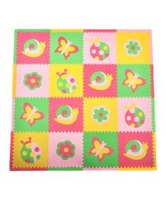 Pink & Green Bugs Play Mat Set by Tadpoles on #zulily