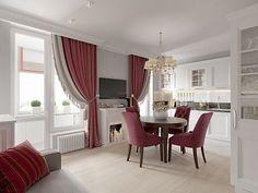 Интерьер квартиры в классическом стиле в ЖК «Времена года», 61 кв.м.