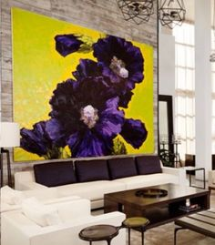 Beautiful Living Room Design With Bold Art Placement