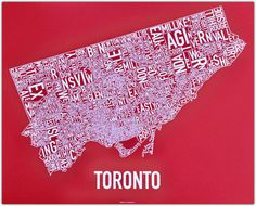 Ork Posters City Neighborhood - These Ork Posters 'City Neighborhood' prints are a great way to show your love for your hometown! From Los Angeles and New York City to Toronto, On. Ontario, Toronto Neighbourhoods, Canadian Things, Poster City, Toronto Canada, Canada Eh, Toronto Life, All I Ever Wanted, City Maps