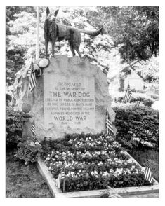 War Dog Memorial in Hartsdale Canine Cemetery, Hartsdale, NY.