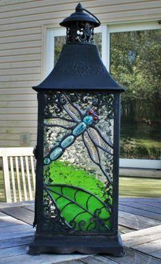 Custom Made Stained Glass Lantern van SingularArt op Etsy