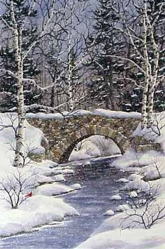 A larger image of the print, Stonebridge #2, by Kathy Glasnap of Door County, Wisconsin. Click to go back.