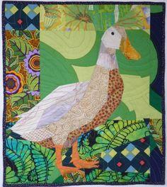 Ruth McDowell Quilts Art | Duck, Weeding - Ruth B. McDowell - 2012