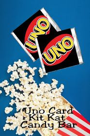 Get your game on with these fun Uno card candy bar wrappers. Wrappers fit a regular Kit Kat bar and are a great addition to your next game night party. Game Night Parties, Game Party, Kit Kat Candy, Kit Kat Bars, Uno Cards, Girl Birthday Decorations, Birthday Parties, Themed Parties, Birthday Ideas