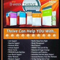 Thrive Ingredient List Impressive Eh Thrive With Me