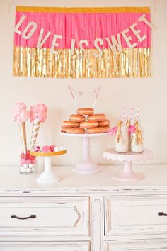 Love is Sweet - simple decor for Valentines entertaining