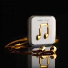 Fancy - Happy Plugs 18 Carat Gold Earbuds, $14,500.00