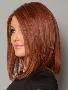 Long bob on red hair - Carré long sur cheveux roux Long bob on red hair Hair Color Auburn, Auburn Hair, Red Hair Color, Auburn Balayage, Balayage Hair, Medium Hair Styles, Short Hair Styles, Long Red Hair, Red Long Bob