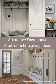 ✓ 10 Attractive Farmhouse Mudroom Entryway Ideas - Even a shallow house, just like the one pictured right here, can perform as a mudroom with inventive storage design. Entryway Stairs, Entryway Ideas, Ikea Mud Room, Small Mudroom Ideas, Small Entryways, Storage Design, Shallow, Lockers, Farmhouse Ideas