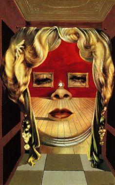 """""""Twarz Mae West, która może posłużyć jako mieszkanie"""" Portret namalowany przez…"""