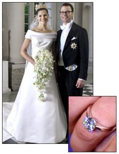 CROWN PRINCESS VICTORIA of Sweden married Daniel Westling (who was her personal trainer) in 2010 and wears this simple and elegant round brilliant diamond solitaire engagement ring set in white gold.