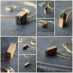 Vintage Letterpress Initial necklace...