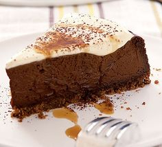 """Kahlua chocolate cheesecake - Eat Your Books is an indexing website that helps you find & organize your recipes. Click the """"View Complete Recipe"""" link for the original recipe."""