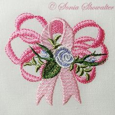 The original from the designer of the rose cancer awareness design.