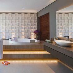 Master bathroom. SALA DE BANHO - ANUAL DESIGN BRASÍLIA