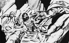 Cave of the giant lizards (Jim Holloway, AD&D module U2: Danger at Dunwater, TSR, 1982)