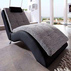 Ruheliege in Schwarz-Grau modern Sweet Home, Living Room, Grey, Furniture, Black, Home Decor, Chill, Star, Living Room Ideas