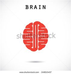 Creative brain abstract vector logo design template. Corporate business industrial creative logotype symbol.Vector illustration