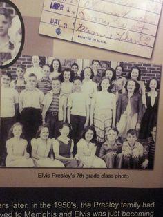 7th grade class picture Elvis Memorabilia, Class Pictures, Elvis Presley, Memphis, Rocks, Movie Posters, Prints, Movies, Collection