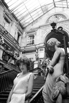 """Happy Anouk Aimée here on the set of Jacques Demy's """"Lola""""©Agnès Varda Hollywood Actor, Classic Hollywood, Stephane Audran, Agnes Varda, Jacques Demy, Anouk Aimee, Film World, Film Inspiration, French Beauty"""