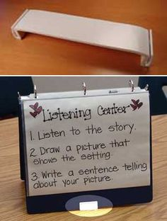 Binder Stand. very useful for centers and guided reading sessions. What a great idea for any grade! Once the binder is made, you have all of your centers for the year all done!