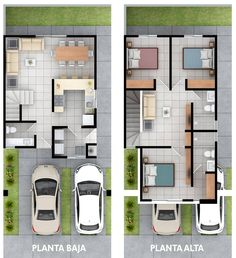 House Floor Design, Modern House Floor Plans, Sims 4 House Design, Duplex House Design, Small House Design, House Plans Mansion, Dream House Plans, Small House Plans, House Layout Plans