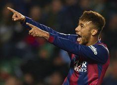 Neymar se siente el delantero total del Barça. Foto: Manuel Queimadelos | Deportes | EL PAÍS