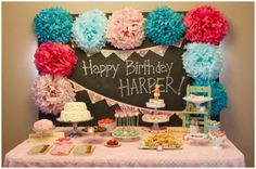 Tissue paper and a chalkboard turn into a party