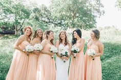 Watters Apricot Bridesmaid Dresses
