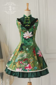 f42195a277a Classic Chinese Style  Floating Life Lotus Shadow  Series JSK Lolita  Dresses Lolita Cosplay