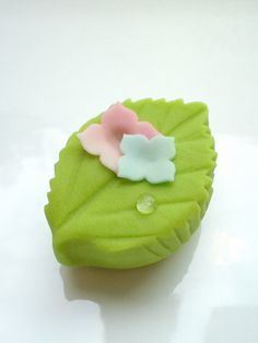 "Japanese sweets titled ""After rain"""