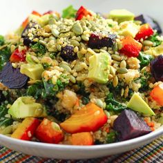 This energizing quinoa bowl is packed with veggies, fiber, protein, and good fats. It will leave you feeling satisfied and full!