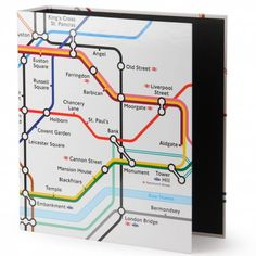 TFL tube map lever arch file - £4