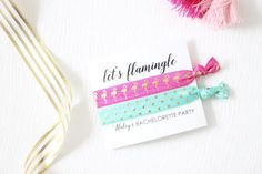 Let's Flamingle Bachelorette Party  Bachelorette by GoldandGlamour
