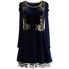 Chicwish Golden Age Velvet Tulle Dress ($59) ❤ liked on Polyvore featuring dresses, blue, blue tulle dress, draped dress, tulle dress, draped cocktail dress and flutter sleeve dress