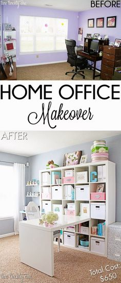 Best DIY Projects: Budget home office makeover!