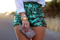 Shorts: strass paillettes l, clutch, bag, aquamarine, turquoise ...