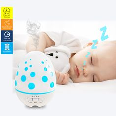Cool Breeze aroma diffuser runs overnight with whisper quiet operation, waterless auto shut off and adjustable airflow. Good for a light sleeper.